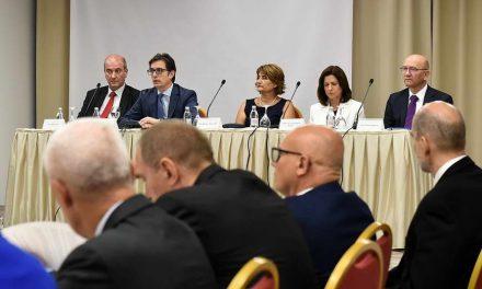 Претседателот Пендаровски се обрати на отворањето на форумот на поранешни алумни на Маршал центарот