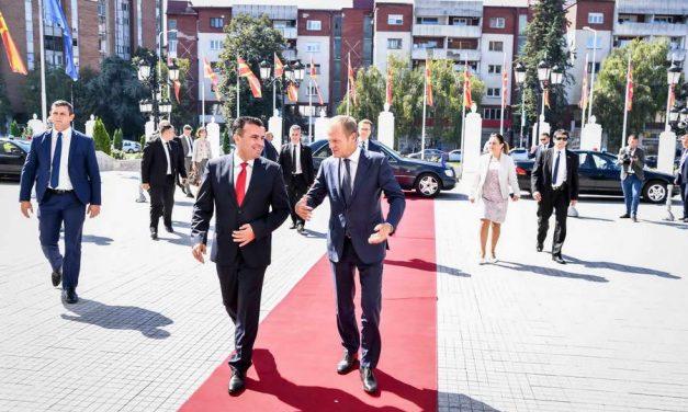 Заев домаќин на Туск: Подготвени сме за обележување на заеднички успех со добивање одлука за почеток на преговорите