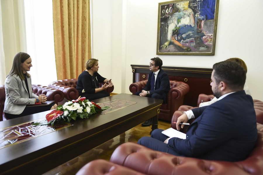 Претседателот Пендаровски ја прими постојаната претставничка на УНДП, Нарине Сахакјан