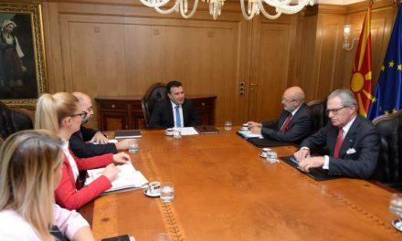 Средба на премиерот Заев со високиот комесар на ОБСЕ за национални малцинства, Заниер: Поздравени се обединувачките политики на Владата, што се базични вредности и на Европа кон којашто се стреми нашата држава