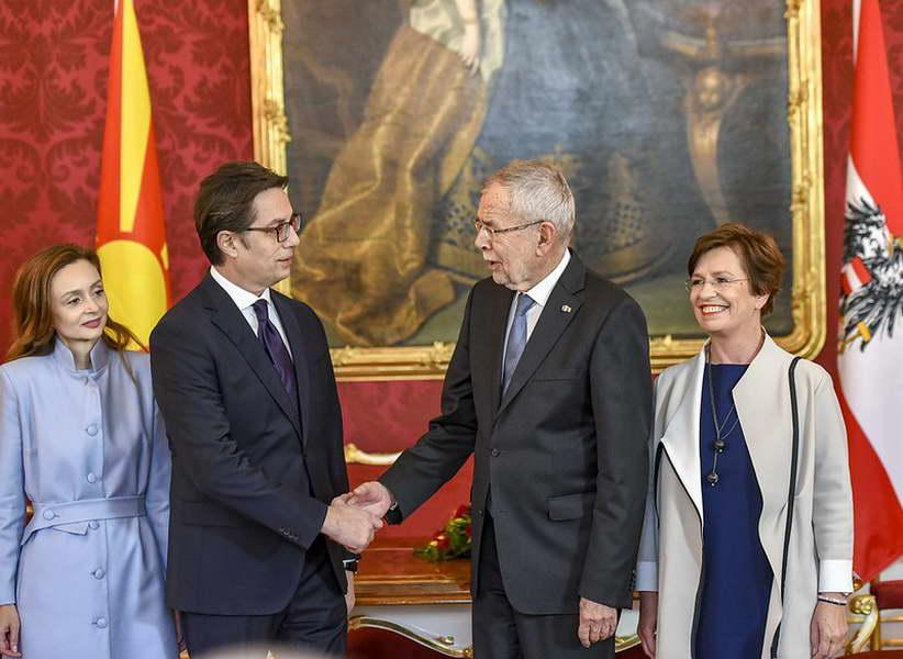 Изјава на Пендаровски на средбата со австрискиот претседател Александер Ван дер Белен