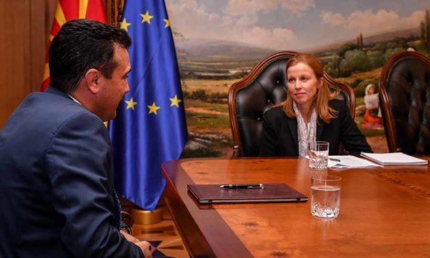 Средба на Заев со шефицата на мисијата на ММФ Бјорсон Баркбу: Има силен контекст за развој на економијата