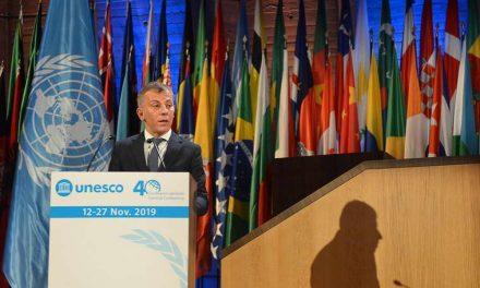 Обраќање на министерот Едмонд Адеми на 40. Генерална конференција на Унеско