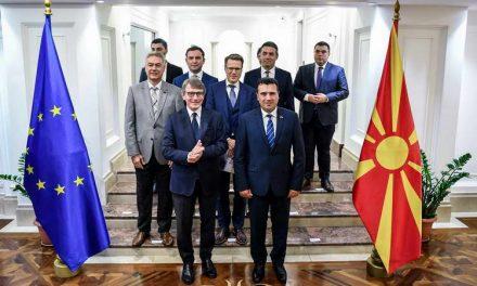 Заев на прес со Претседателот на ЕП Сасоли: Нашето членство во ЕУ е незаменливо