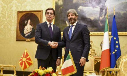 Средба на Пендаровски со претседателот на Долниот дом на Парламентот на Италија, Роберто Фико