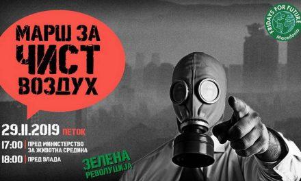 """""""Зелена револуција"""" со порака до Министерство за животна средина и до Владата: Доста ЌЕ, акција сега!"""