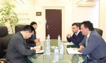 Министерот Сугарески со сретна со новоименуваниот кинески амбасадор