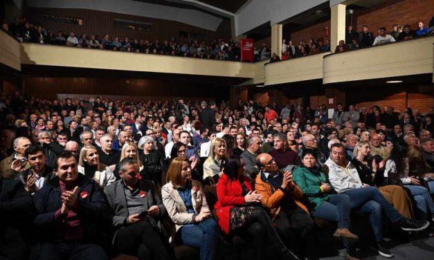 СДСМ: Масовното присуство на трибината потврди – Охрид е на прав пат, следува голема победа на 12 април