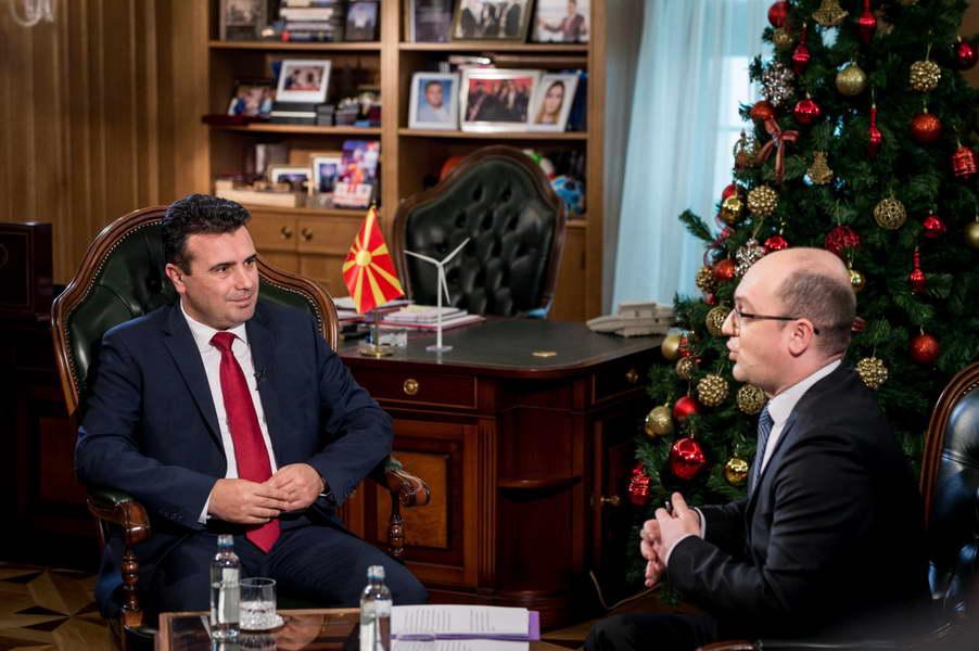 Премиерот Заев во ТВ интервју: Очекувам нов чист мандат и продолжување на трансформациите на нашата држава
