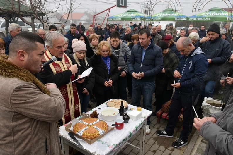 """Традиционална прослава на празникот """"Св. Никола"""" во населбата Жабино Маало"""