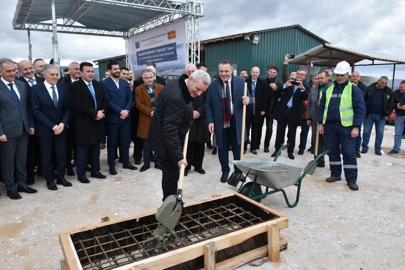 """Поставен камен-темелник на земјоделско-сточарскиот комплекс """"Голд Ланд"""",  инвестиција вредна 4.5 милиони евра"""