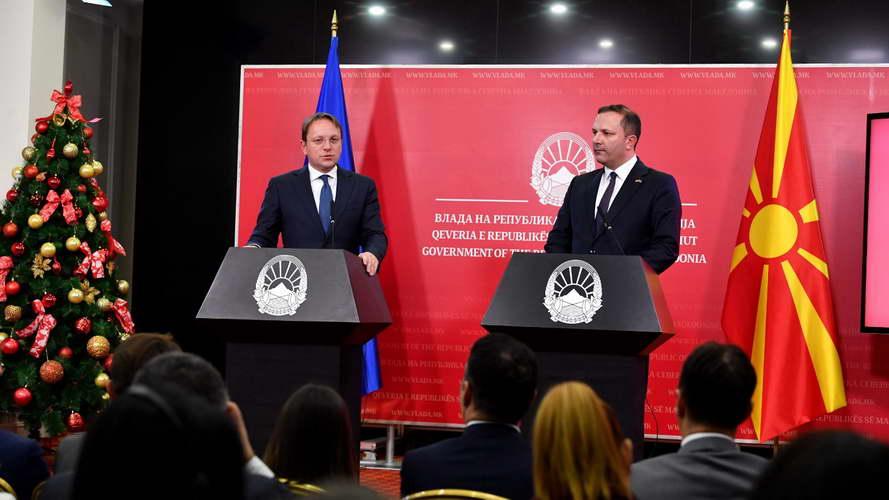 Спасовски: Очекуваме со новата методологија да дојде и одлуката за почеток на преговорите со ЕУ пред самитот во Загреб