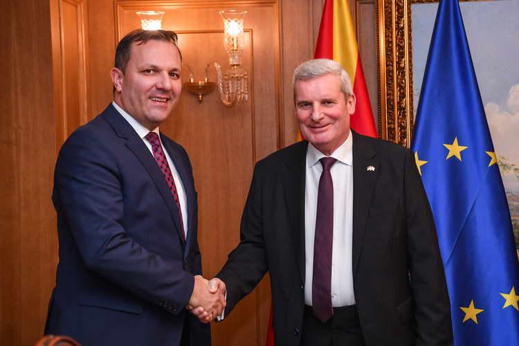 Средба Спасовски-Герберих: Продолжува поддршката од Германија на патот на земјата во ЕУ