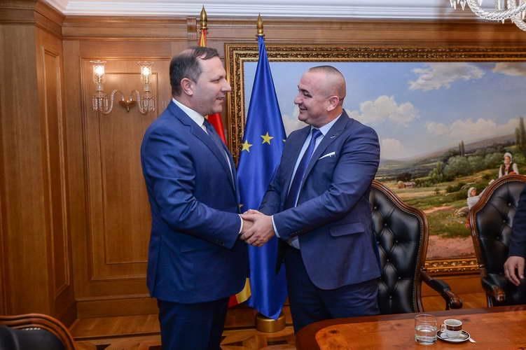Средба на премиерот Спасовски со градоначалникот на Пустец и со претставници од македонската заедница во Албанија