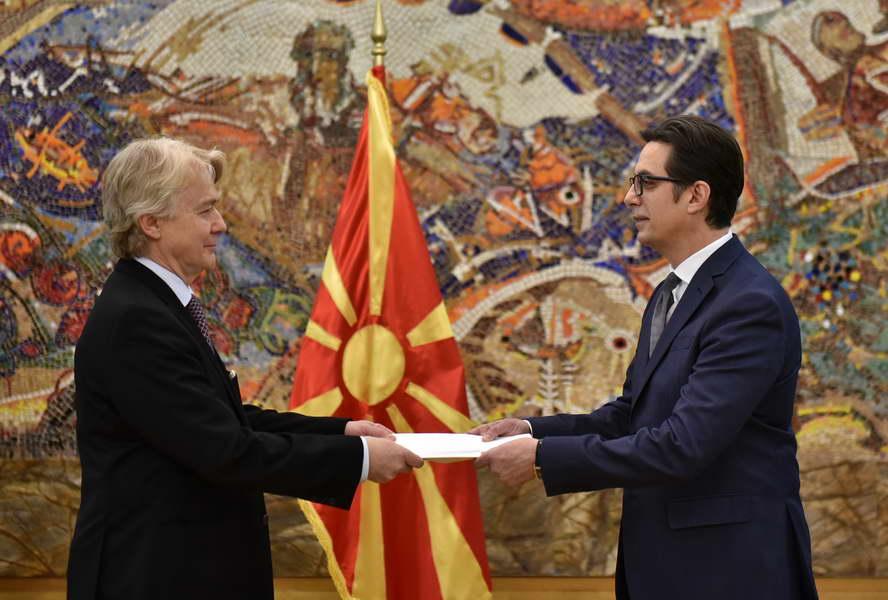 Претседателот Пендаровски ги прими акредитивните писма на новоименуваниот амбасадор на Кралството Норвешка