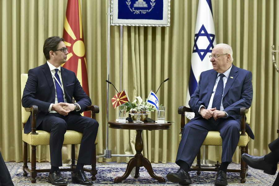 Средба на Претседателот Пендаровски со претседателот на  Државата Израел, Реувен Ривлин