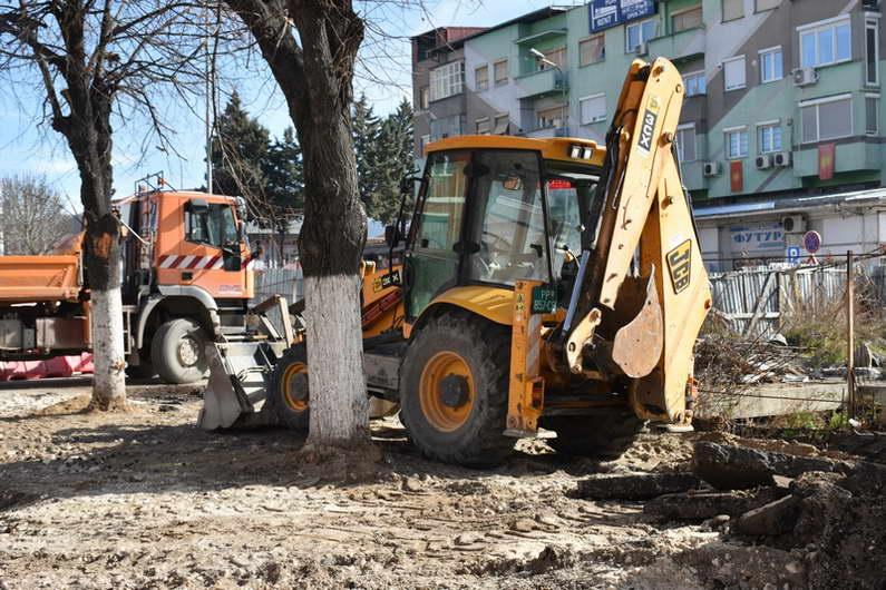 """Нов лик на централното градско подрачје – започна реконструкцијата на булеварот """"Гоце Делчев"""""""