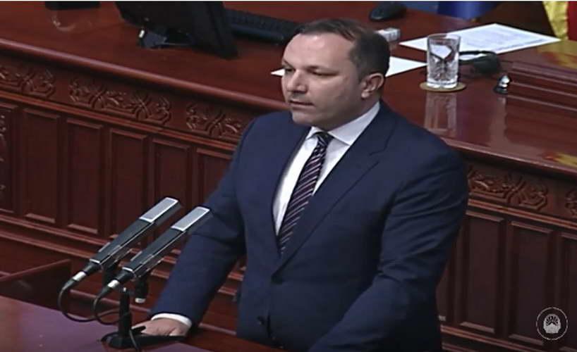 Обраќање на премиерот Спасовски на седницата за разрешување на министерката Мизрахи