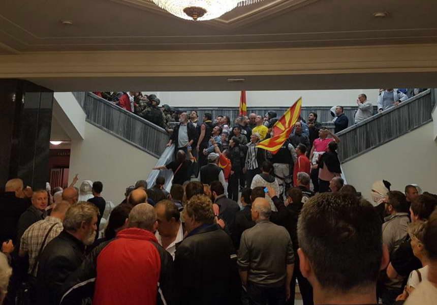 Организаторите на упадот во Собранието влегуваат во судница