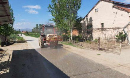 Дезинфекција на улиците во населените места во општина Прилеп