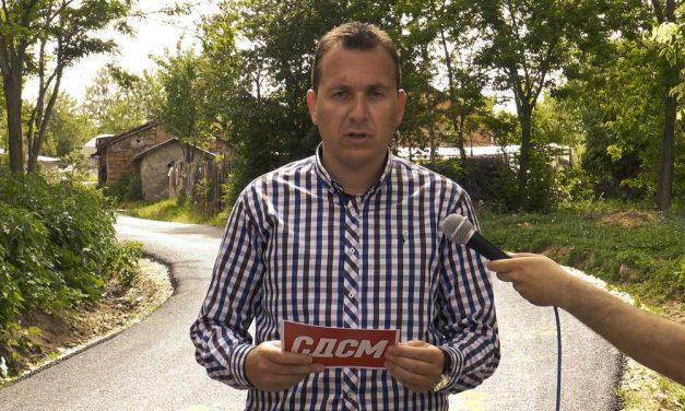 Миле Талевски: Ветивме и ги асфалтиравме приоритетните улици во населеното место Алинци