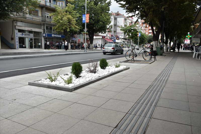 """Во полн ек реконструкцијата на булеварот """"Гоце Делчев"""" (фото галерија)"""