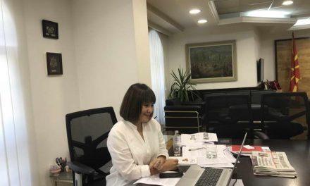 Вицепремиерката Царовска на состанок за дуалното образование- Се разгледува можноста за продолжување на практичната обука на средношколците во фабриките под протоколи за заштита од Ковид-19