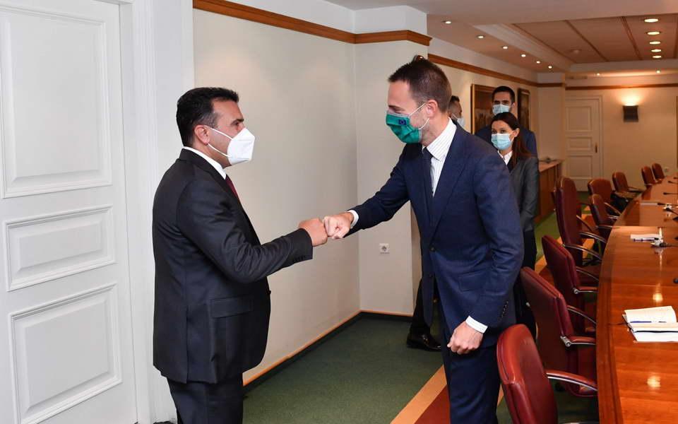 Средба на премиерот Заев со директорот на Транспортната заедница на ЈИЕ Закоњшек: Вложуваме во квалитетен, ефикасен и економичен транспортен систем интегриран во регионот и ЕУ