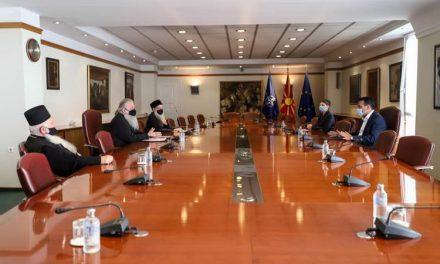 Премиерот Заев прими делегација на МПЦ-ОА предводена од архиепископот г.г. Стефан