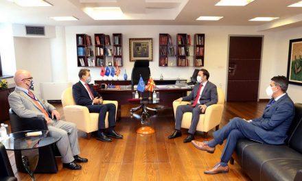 Проштална средба на Министерот за надворешни работи на Република Северна Македонија Бујар Османи со шефот на делегацијата на ЕУ амбасадорот Самуел Жбогар