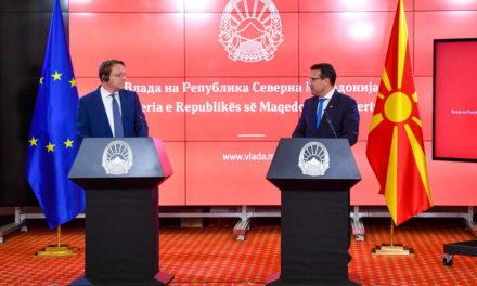Заев и Вархеји на заедничка прес-конференција: Економско-инвестицискиот пакет за Западен Балкан е порака за кохезија и поврзување на регионот