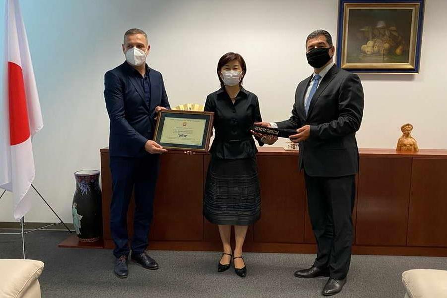 Признание од Џудо федерацијата, за јапонската амбасадорка Кеико Ханеда