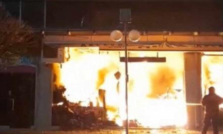 """Во големиот пожар во ТЦ """"Глобал"""" во Струмица изгореа најмалку 10 продавници и затворениот пазар"""