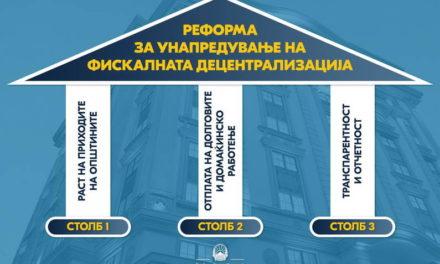 Министерството за финансии започнува голема реформа за унапредување на фискалната децентрализација