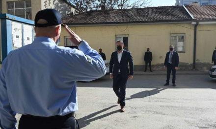 Увид во градежните работи на објектот на СВР Куманово од страна на министерот Спасовски