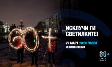 Македонија по 12-ти пат дел од акцијата Часот на планетата Земја