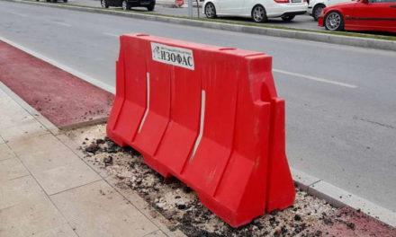 Се санираат недостатоците на булеварот настанати од слегнување на земјиштето