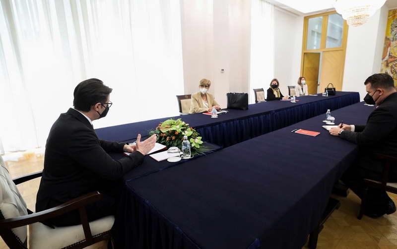 Средба на претседателот Пендаровски со Беса Адеми, претседателка на Врховниот суд
