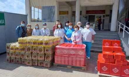 Витаминка донира пакети производи за 450 здравствени работници
