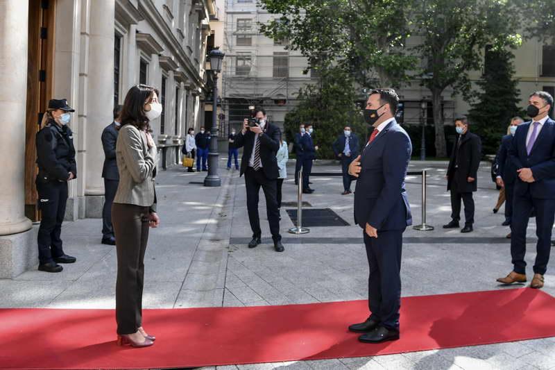 Заев на средба со претседателката на Сенатот на Шпанија Куенка: Во Шпанија е препознаено подобрувањето на институционалниот систем во Северна Македонија
