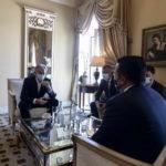 """Средба Заев – Блер: Потенцијали за соработки со глобалната ИТ компанија """"Оракл"""" за враќање на мобилноста на граѓаните"""