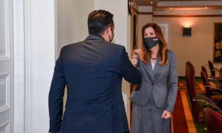 Средба на премиерот Заев со американската амбасадорка Брнз: Политиките на дијалог отвораат перспективи, САД со поддршка за следниот чекор во евроинтеграциите
