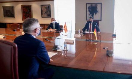 Средба на премиерот Заев со германскиот државен министер за Европа Рот: Германија го поддржува напредокот на Република Северна Македонија во евроинтеграциите