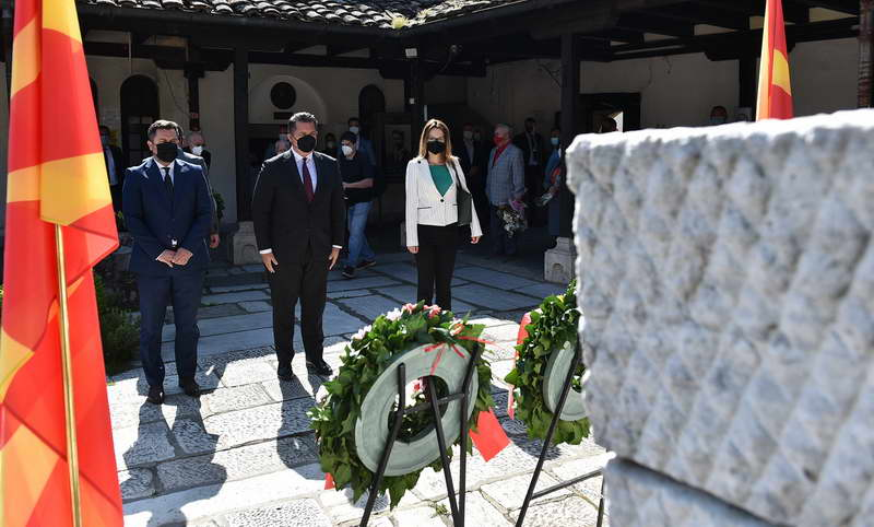 Делегација од Кабинетот на Претседателот положи цвеќе по повод 118-годишнината од смртта на Гоце Делчев