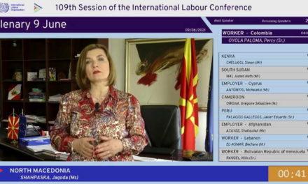 Шахпаска на конференцијата на МOТ во Женева: Владата ја задржа економската стабилност и спречи губење на работните места