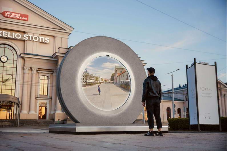 """Граѓаните на литванскиот град Вилнус и полскиот Љублин се поврза преку """"портал"""""""