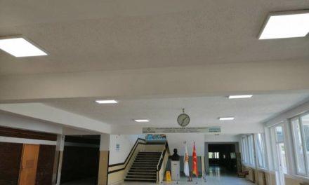 Комплетно ЛЕД осветлување за Техничкото училиште во Битола