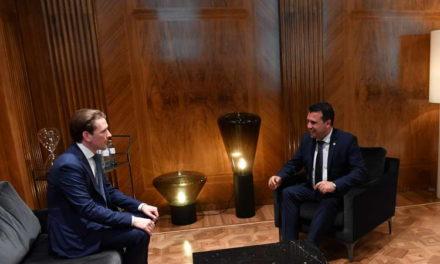 Заев и Курц: Имаме заедничка обврска да ја обезбедиме европската иднина на Западен Балкан