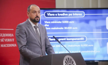 Вицепремиерот Битиќи, министерот Бесими и директорот Наумов ја промовираа кредитната линија Ковид 4 – На стопанството му се ставаат на располагање 10 милиони евра бескаматни кредити