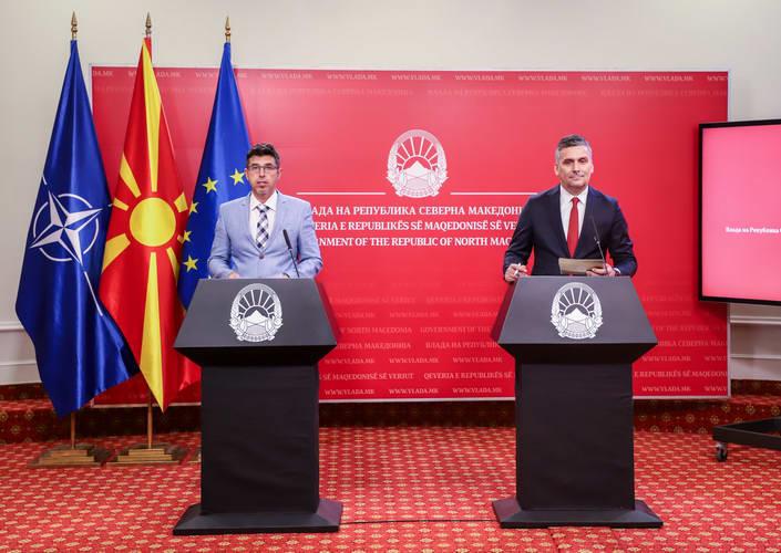 Прес-конференција на портпаролите на Владата, Арсовски и Хоџа: Новите инвестиции во енергетиката ја потврдуваат зелената агенда на Владата